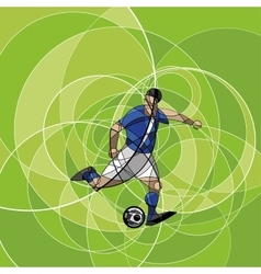 Abstract image of soccer player vector image vector image