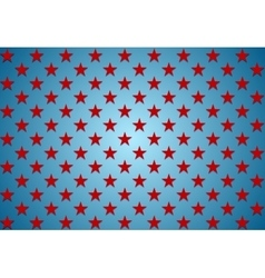 Abstract red stars on blue background vector image vector image