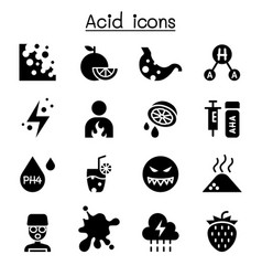 acid icon set vector image