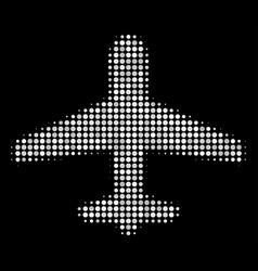 airplane halftone icon vector image
