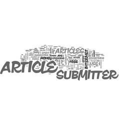 Article submitter text word cloud concept vector