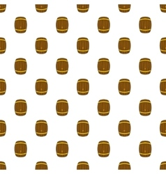 Barrel of beer pattern cartoon style vector