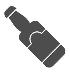 beer bottle solid icon glass bottle vector image