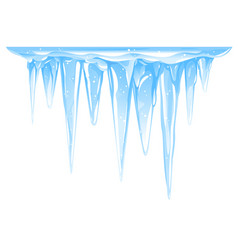 Big icicles cluster isolated vector