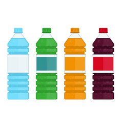 bottle water and sweet soda vector image