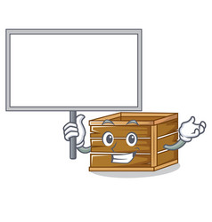 bring board crate character cartoon style vector image