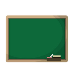 chalkboard eraser white chalk vector image