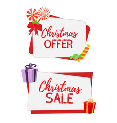 christmas banners for sale vector image