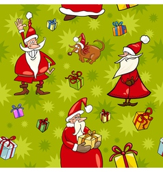 Christmas cartoon seamless pattern design vector