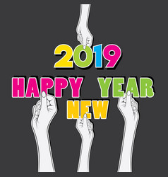 colorful new year 2018 greeting design vector image