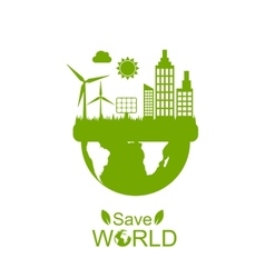 Concept of Save World vector image