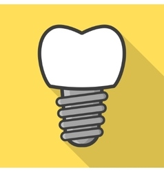 Dental implant icon vector