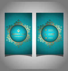 Elegant business card design vector