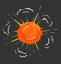 Explosion fireball abstract burst fire flames vector