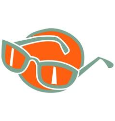 Fashionable glasses vector image