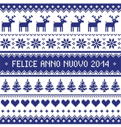 Felice Anno Nuovo 2014 - italian happy new year vector image