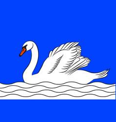 Flag le blanc in indre centre-val de loire vector
