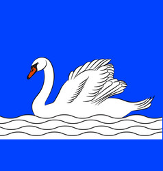 Flag of le blanc in indre of centre-val de loire vector