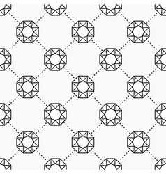 Gemstone pattern vector image