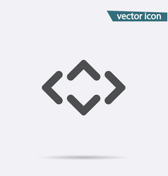 gray arrow icon isolated on background modern fla vector image