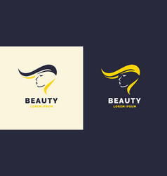 Hair repair and bright logo for the barber shop vector