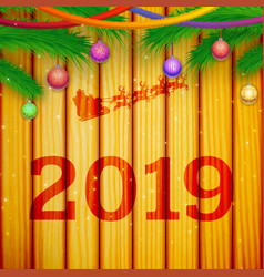 happy new year festive template vector image