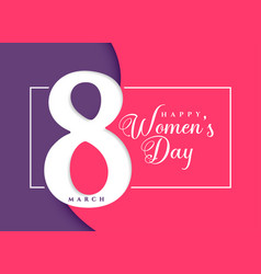 happy womens day march celebration background vector image