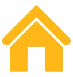 Home flat yellow color icon vector image