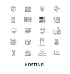hosting hostess web server cloud hosting vector image