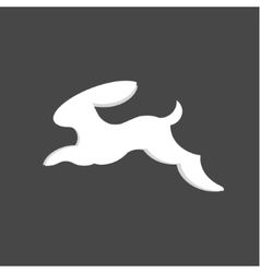 Jumping bunny rabbit abstract minimalism vector
