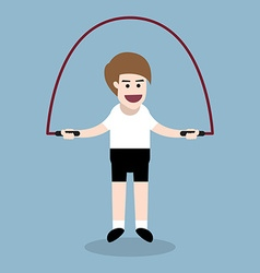 Jumping rope exercise vector