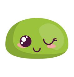 Kawaii face happy icon vector