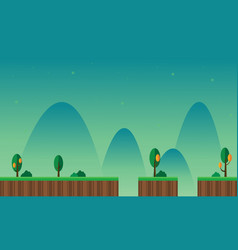 Landscape mountain cartoon for game background vector