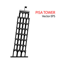 Leaning tower of pisa italy icon vector