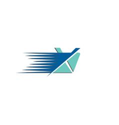 letter x mail logo design vector image