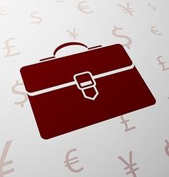 Logo briefcase Stock vector