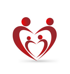 loving family figures icon vector image