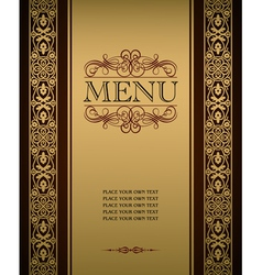 Menu cover vector image