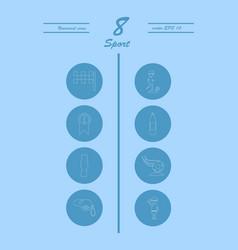 minimalistic thin line sports sharp icons vector image
