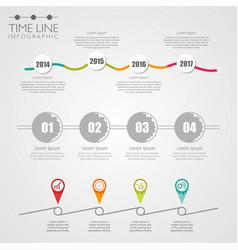 model timeline vector image