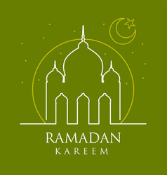 moslem ramadan kareem greeting card design vector image