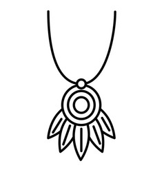 necklace beautiful isolated icon vector image