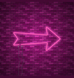 Neon arrow sign vector