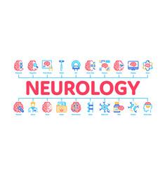 Neurology medicine minimal infographic banner vector