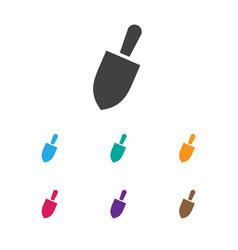Of equipment symbol on spade vector