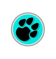 paw logo vector image