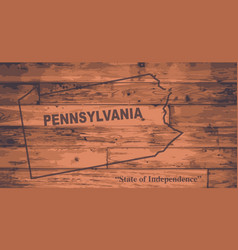 Pennsylvania map brand vector