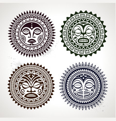 Polynesian Circle Patterns vector