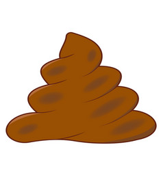 Realistic turd brown feces cartoon shit vector