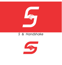 S - letter abstract icon and hands logo design vector